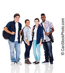 élevé, étudiants, école, groupe