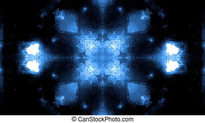 élevé, bleu, kaléidoscopique, technologie, boucle