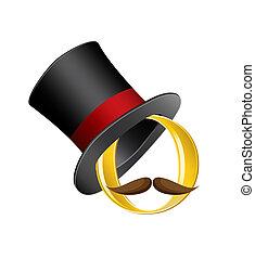 élevé, cercle, chapeau