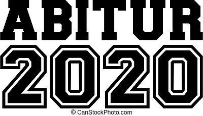 élevé, certificat, 2020, allemand, école, noir