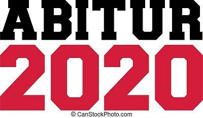 élevé, certificat, rouges, 2020, allemand, école