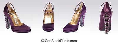 élevé, chaussure, talon