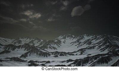 élevé, crêtes, nuages, altitude