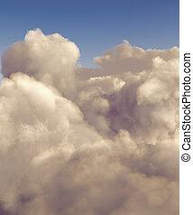 élevé, cumulus, altitude, nuages