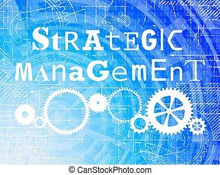 élevé, gestion, technologie, fond, stratégique