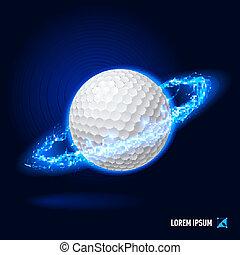 élevé, golf, tension