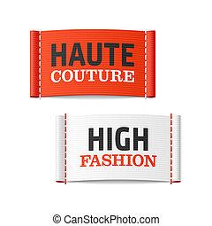 élevé, haute, mode, couture