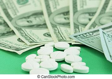 élevé, médicaments, cout