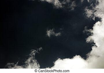 élevé, megapixels, cinquante, triste, sombre, humeur, ciel, qualité, art, nuages, amende