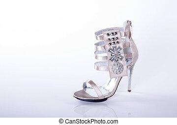 élevé, moderne, chaussure, talon