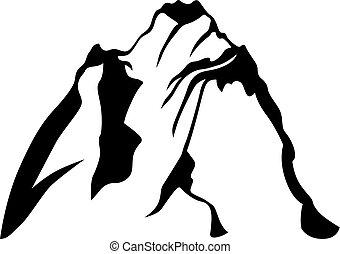 élevé, montagne, rocheux