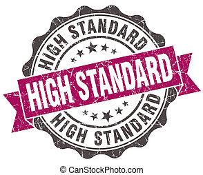 élevé, norme, grunge, violet, cachet, isolé, blanc