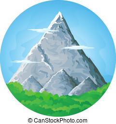 élevé, paysage montagne