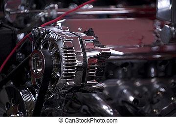 élevé, performance, moteur, 4