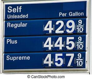 élevé, prix, essence