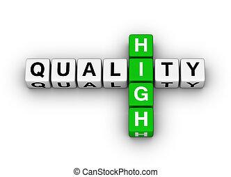 élevé, qualité, icône