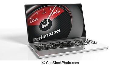 élevé, rendre, concept, 3d, performance