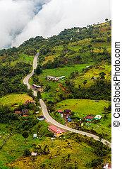 élevé, rural, altitude, route