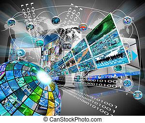 élevé, secteur, technologie