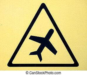 élevé, symbole, signe, tension, danger