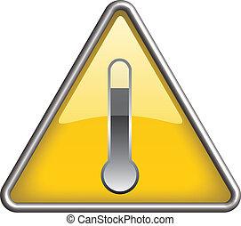 élevé, symbole, température, danger, icône