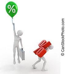 élevé, taux, prêts, bas intérêt