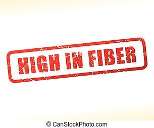 élevé, texte, fibre, buffered