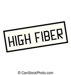 élevé, timbre, blanc, fibre
