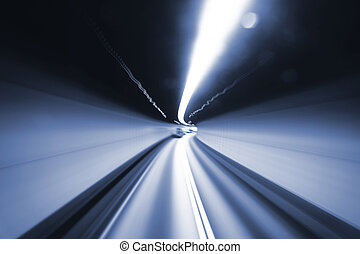 élevé, tunnel, vitesse, barbouillage