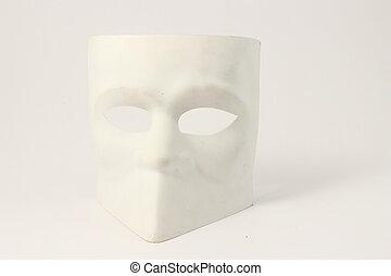 élevé, vénitien, style, masque, clã©