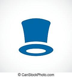 élevé, vecteur, chapeau, retro, icône
