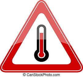 élevé, vecteur, température, signe