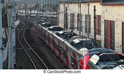élire, train, passager, toile