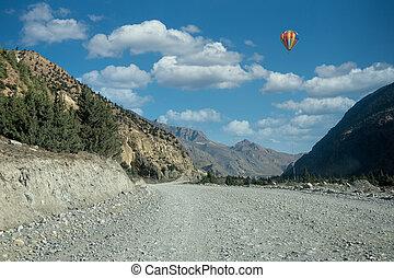éloigné, terre, désert, route