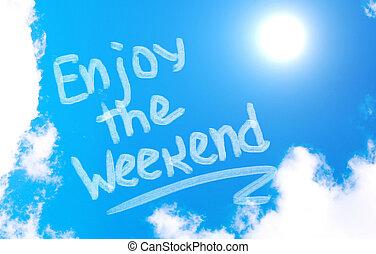 élvez, fogalom, hétvégi