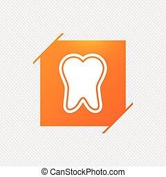 émail, dentaire, symbole., signe, protection, icon., soin dent