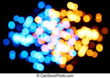 émettre, diodes, lumière