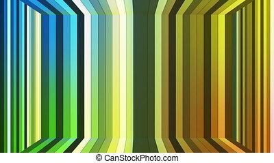 émission, barres, résumé, high-tech, vertical, boucle, salle, multi, couleur, scintillement, hd