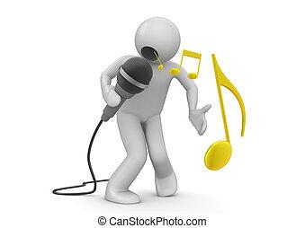 émotif, chanteur
