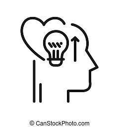 émotif, intelligent, conception, illustration