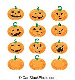 émotif, potirons, halloween
