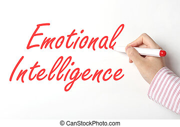 émotif, whiteboard, intelligence