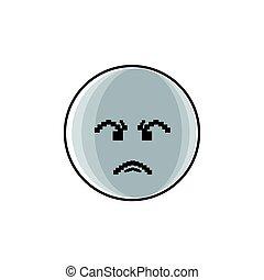 émotion, gens, fâché, négatif, figure, dessin animé, icône