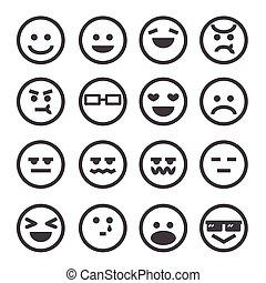 émotion, humain, icône