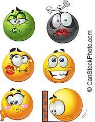 émotion, sourires, 1, rond
