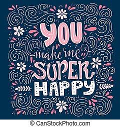 én, ön, csinál, boldog