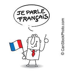 én, beszél, francia