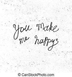 én, csinál, ön, boldog
