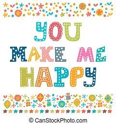 én, fogalom, romantikus, happy., postcard., árajánlatot tesz, csinál, köszönés, kéz, alapismeretek, tervezés, belélegzési, húzott, ön, card.