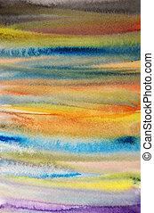 én, művészet, alkotott, festett, kéz, vízfestmény, háttér, scrapbooking, csíkos, tervezés